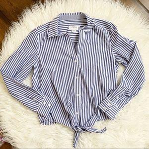 Vineyard Vines Striped Tie Front Shirt